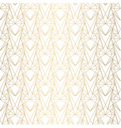 Art deco pattern from hearts seamless white vector