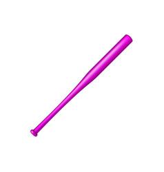 Baseball bat in purple design vector
