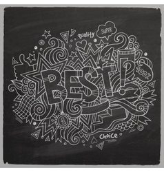 Best hand lettering and doodles elements vector