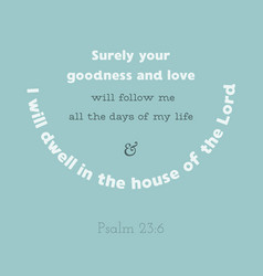 Bible verse from psalm vector