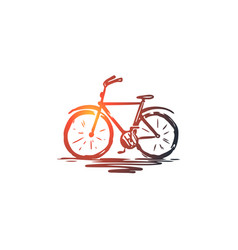 Bike cycle ride wheel bicycle concept hand vector