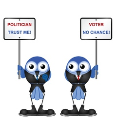 BIRD POLITICIAN vector image