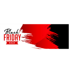 Black friday sale banner in grunge style vector