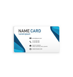 blue business creative name card image vector image