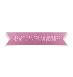 Breast Cancer Awareness pink Banner vector