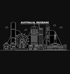 brisbane silhouette skyline australia - brisbane vector image