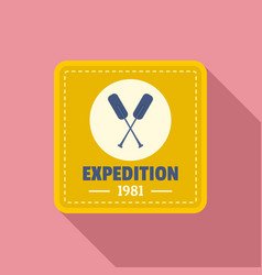 camp expedition logo flat style vector image