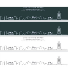 Cape canaveral single line skyline banner vector