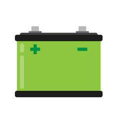 Car battery flat icon vector