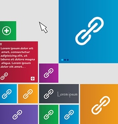 Chain Icon sign buttons Modern interface website vector