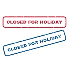 Closed For Holiday Rubber Stamps vector