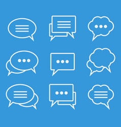 collection of speech bubbles linear icons vector image