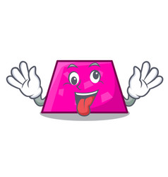 crazy trapezoid mascot cartoon style vector image
