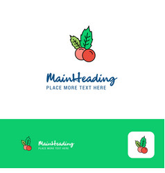 creative cherries logo design flat color logo vector image