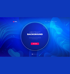 dark blue circle liquid color background design vector image