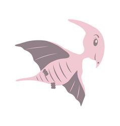 Dinosaur pterodactyl cartoon vector