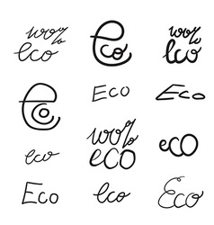 Eco Natural Lettering vector