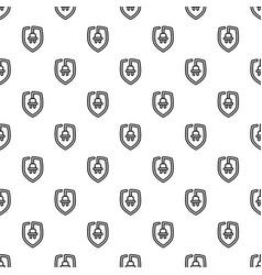eco plug shield pattern seamless vector image