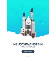 germany neuschwanstein time to travel travel vector image