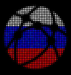 halftone russian web browser icon vector image
