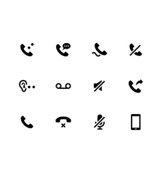 Handset icons on white background vector image