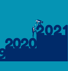 Helping each other go up to 2021 together vector