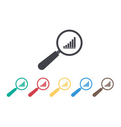 icon graph with data for business predict vector image
