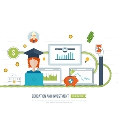 Investment in education Business development vector image
