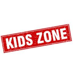 Kids zone square stamp vector