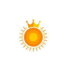 king sun logo icon design vector image