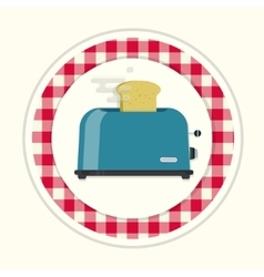 Kitchen toaster vector image