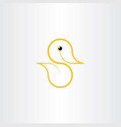Logo duck yellow symbol icon element vector