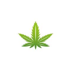 marijuana cannabis medical hemp logo design vector image