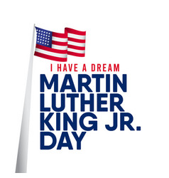 Martin luther king jr day template design vector