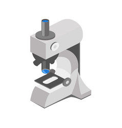 Medical microscope isometric vector