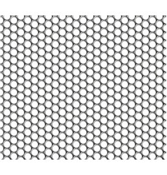 Metallic hexagonal grid realistic seamless vector