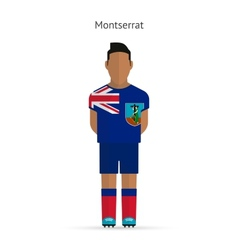 Montserrat football player Soccer uniform vector