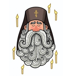 Orthodox Priest vector