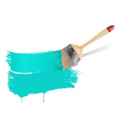 paint brush aqua background vector image vector image