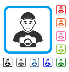 Paparazzi framed gladness icon vector