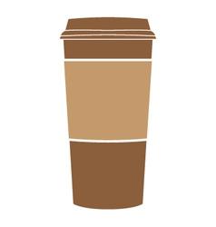 Paper coffee cup symbol vector