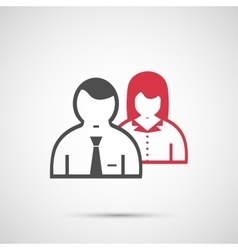 People design Man and woman icon vector image