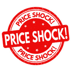 price shock grunge rubber stamp vector image