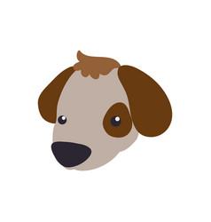 puppy cartoon drawing head vector image