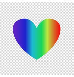Rainbow multicolored gradient heart icon clip art vector
