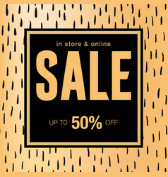 sale banner template design in store and online vector image