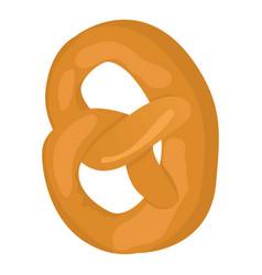 Salt pretzel icon isometric style vector