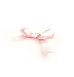 satin pink bow silk ribbon birthday gift decor vector image
