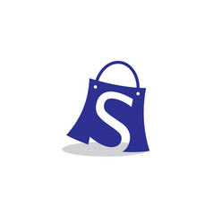 shopping bag logo vector image