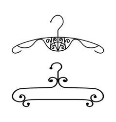 Silhouette vintage clothes hanger vector